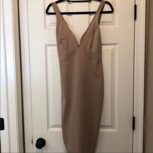 Lulus Taupe midi dress